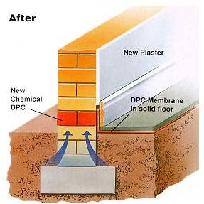 How to repair a damp proof course
